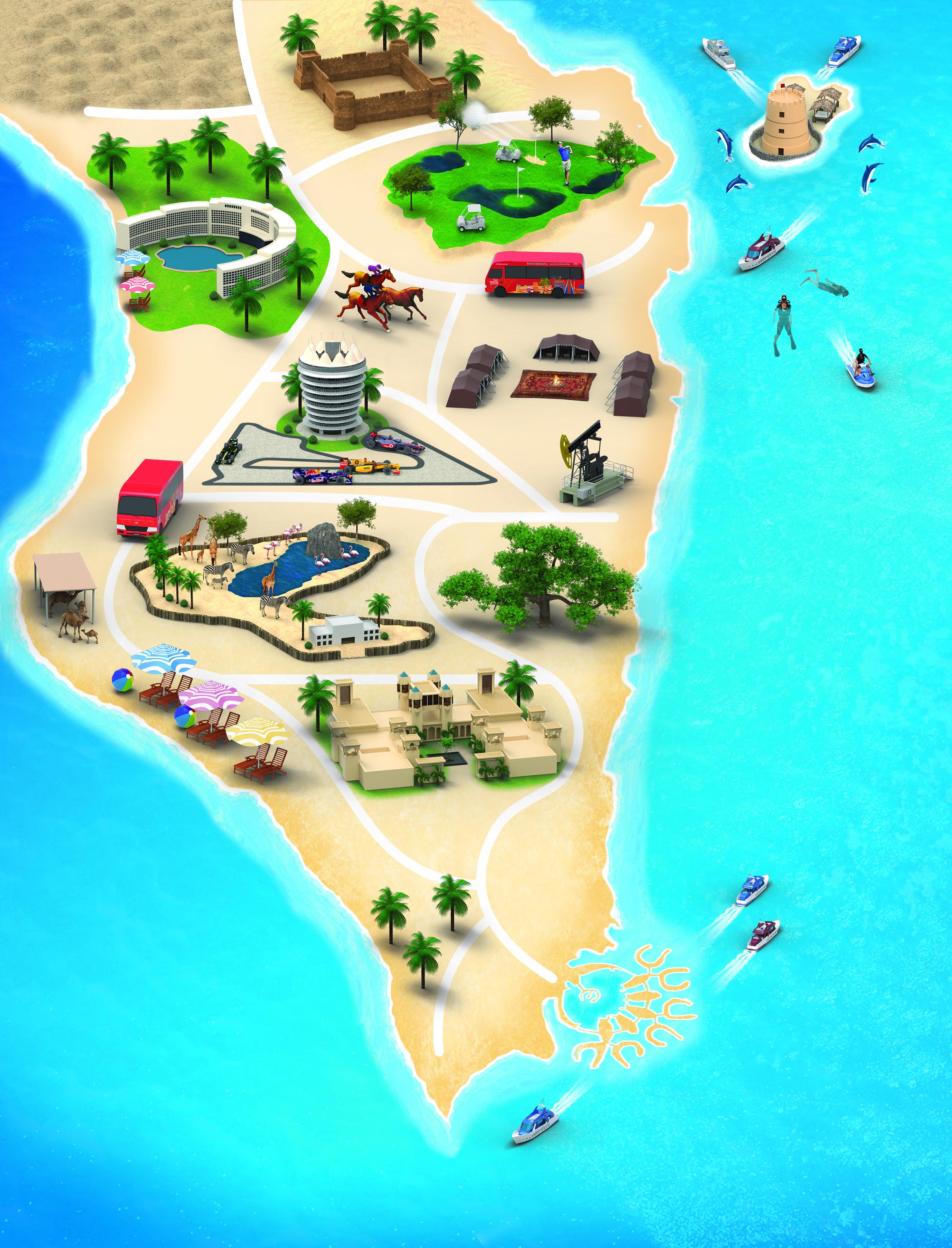 bahrain map image